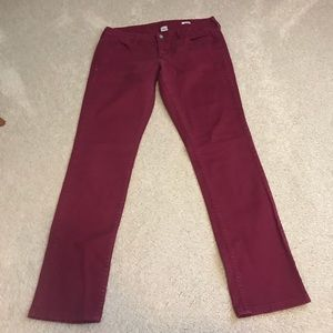 Red super skinny jeans